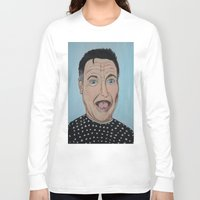 robin williams Long Sleeve T-shirts featuring Robin Williams Portrait by Tania Allman Art