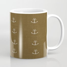 Anchors Away - Brown Coffee Mug