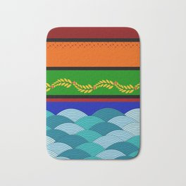 line and wave Bath Mat