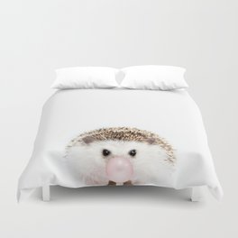 Bubble Gum Hedgehog Duvet Cover
