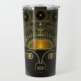 God Sun mask (INTI) Travel Mug