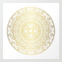 Hand Drawn Gold Bali Mandala Kunstdrucke