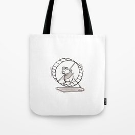 SPINNING YOUR HAMSTER WHEELS Tote Bag
