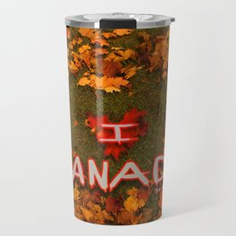 I Love Canada (Heart of Autumn) Travel Mug