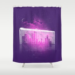 La Ville au Peigne Fin Shower Curtain