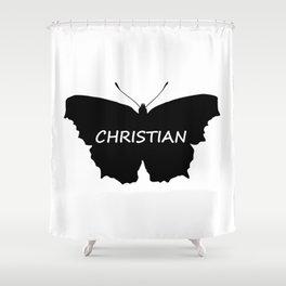 Christian Butterfly Shower Curtain