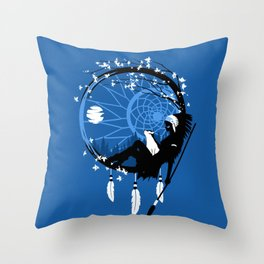 Dream Catcher feathers indian Throw Pillow