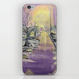 Warm winter beauty iPhone Skin