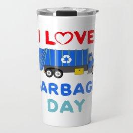 Kids Garbage Truck Shirt - Garbage Day - Blue Garbage Truck Travel Mug