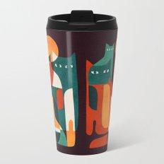 Cat Family Metal Travel Mug