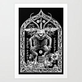 Demon Toad Black Metal Illustration Shirt Art Print