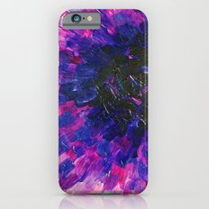 VACANCY - LIMITLESS Bold Eggplant Plum Purple Abstract Acrylic Painting Floral Macro Colorful Void iPhone 6s Slim Case