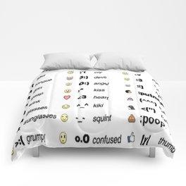 Emoji's for fun Fashion! Comforters