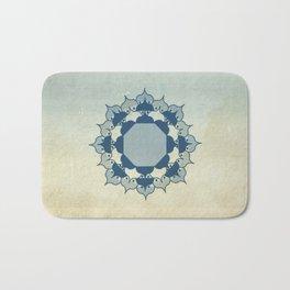 Lotus Mandala Light Blue Center Sand Water Wash Bath Mat