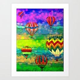 Hot Air Balloons #6 Art Print