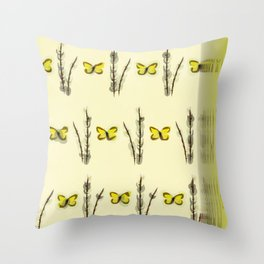 Catkins and Brimstones. Throw Pillow