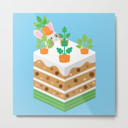 Carrot Cake Metal Print