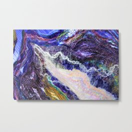 Sheer Fashion - Amethyst III Metal Print