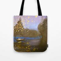 tangled Tote Bags featuring Tangled by carotoki
