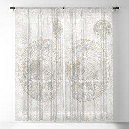 Star map of the Southern Starry Sky Sheer Curtain