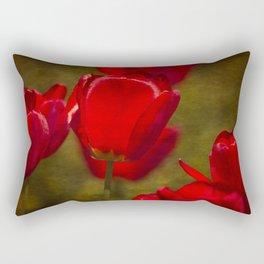 Springing Up Tulips Rectangular Pillow