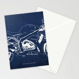 23-2013 Suzuki GSX-R1000 BLUE, Motorcycle blueprint Stationery Cards