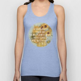 Hunting for Sunflowers Unisex Tank Top