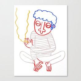 Good Guy Smoking Canvas Print