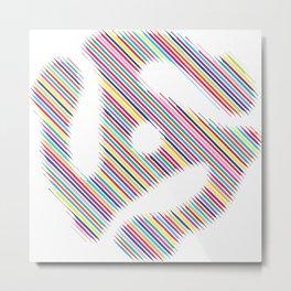 45 Record Insert Icon Metal Print