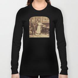 Victorian Stereogram Long Sleeve T-shirt