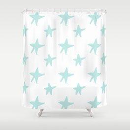 Baby blue stars Shower Curtain