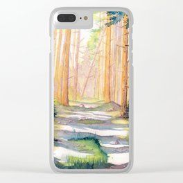 Down The Forest Path Clear iPhone Case