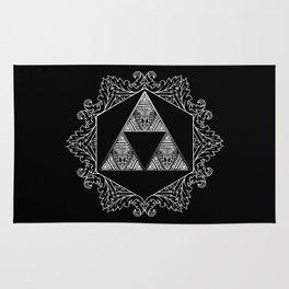 Triforce Aztec White Pattern Rug