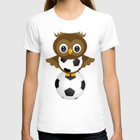 soccer T-shirts featuring Soccer Owl by Simone Gatterwe