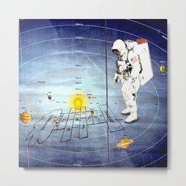 Astronaut Training/ heaven and hell Metal Print