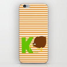 k for kiwi iPhone & iPod Skin