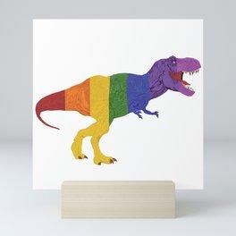 Tyrannosaurus Rainbow Rex Mini Art Print