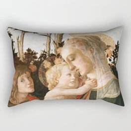 "Sandro Botticelli ""Madonna and Child with St. John the Baptist"" Rectangular Pillow"