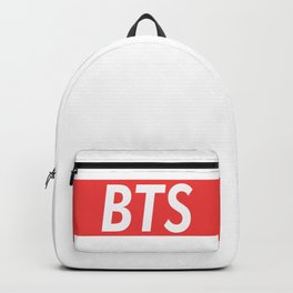 BTS red Backpack