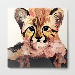 Leo the leopard Metal Print