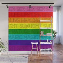 Gay Flag -- Original (Meanings) Wall Mural