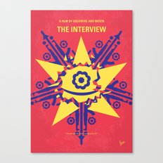 No400 My The Interview minimal movie poster Canvas Print