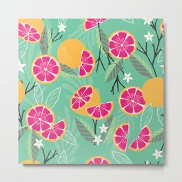 Grapefruit pattern 06 Metal Print