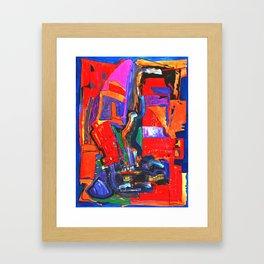 Metropolis Öl auf Leinwand Framed Art Print