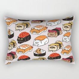 Sushi Persian Cat Rectangular Pillow