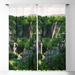 veliki slap waterfall 1 plitvice lakes national park croatia blockbuster Blackout Curtain