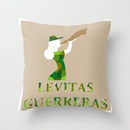 Levitas Guerreras Throw Pillow