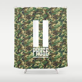 PAUSE – Camo Shower Curtain