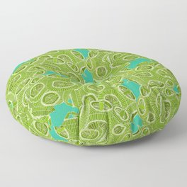 ocean algae Floor Pillow