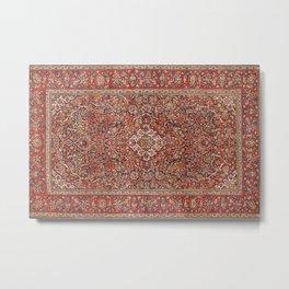 Kashan  Antique Persian Rug Print Metal Print